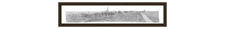 1m Framed Dubai Panorama print