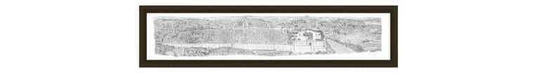 1m Framed Jerusalem Panorama print