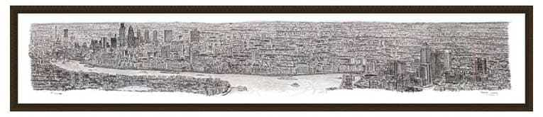 1m Framed London Panorama print