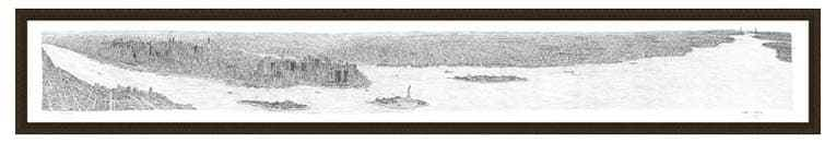 2m Framed New York Panorama print