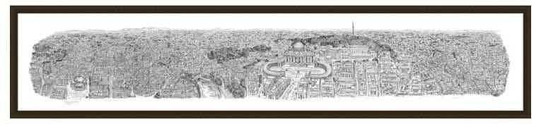 2m Framed Rome Panorama print
